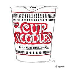 loneliness - comida para solos - #alone #noodles #cupnoodles #soledad #drawings #ilustraciones #soup