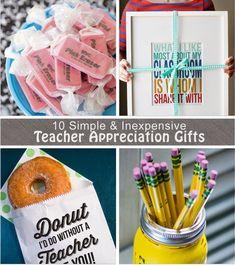Inexpensive Teacher Appreciation Week Gift Ideas