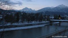 River Inn and #mountains surrounding Innsbruck #travel #Austria #snow #Alps #txoko #lonifasiko