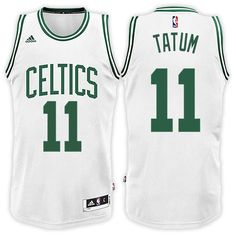 f04ea2463 Boston Celtics  11 Jayson Tatum 2017-18 Home White New Swingman Jersey