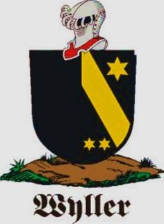Wyller Family Crest / Wyller Coat of Arms [Personalized Gifts – Your own Family Crest order now http://welldonebadges.com/ ]