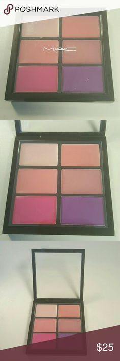 MAC Six Preferred Pinks Pro Lip Palette Brand New but No Box   Pretty Please Please Me Lovelorn Creme De La Femme  Show Orchid Violetta MAC Cosmetics Makeup Lipstick