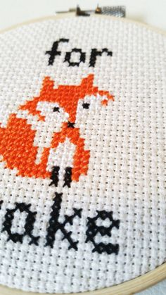 *For Fox Sakes!!! We all have those days....    *THE DETAILS:  Design, color and materials:  An adorable fox in cream, black and orange high quality embroidery floss on cream aida, linen blend cross stitching fabric.    **Please note the item you are receiving is made to order and may vary slightly from the stitch pictured**    *SIZE:  Framed in a 4 wooden hoop frame. Fabric is securely glued into frame for a flush, mountable finish- already to give as a gift or hang up in the lucky room of…