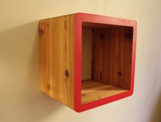 Floating record and magazine shelves made by GeneralPublicDesigns, $175.00