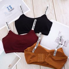 TStyle Modal, Natural Color, No, NONE, Solid Fitness Breathable Sport Bra Casual Lingerie Solid Shoulder Strap Seamless Removable Pad Underwear Cute Lazy Outfits, Teenage Outfits, Sporty Outfits, Teen Fashion Outfits, Swag Outfits, Trendy Outfits, Girl Outfits, Fashion Tips, Ropa Interior Calvin