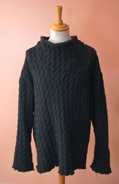 RAF SIMONS AW-00/01 OVERSIZED RAW WOOL PULLOVER SWEATER KNITTED JUMPER ARCHIVES £220.00