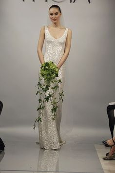 Wedding gown by Theia  For more Great Gatsby wedding ideas, visit EquallyWed.com.