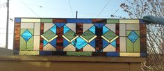 "Frank Lloyd Wright Stained Glass | Custom Stained Glass Window Panel - ""Frank Lloyd Wright Style"" by ..."
