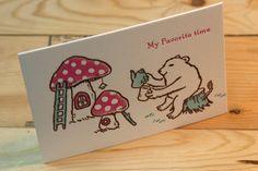 活版グリーティングカード 楽しい時間