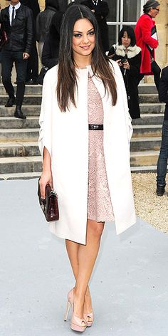 the coat, the dress, the shoes, everything.  perfection.