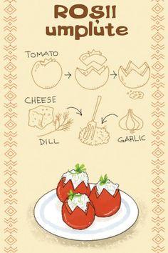 Roșii umplute My Recipes, Cooking Recipes, Favorite Recipes, Romania Food, Comidas Fitness, Russian Recipes, Romanian Recipes, Good Food, Yummy Food