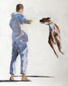 Boxer Dog Art Print boxer dog gifts - Dog Art - Boxer Dog Print- Dog Wall Art - dog decor boxer dog painting boxer artwork boxer lover by JamesCoatesFineArt Painting People, Figure Painting, Canvas Prints, Art Prints, Art Themes, Dog Paintings, Boxer Dogs, Pictures To Paint, Dog Gifts
