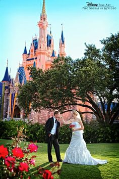 This enchanting bridal portrait is right out of a fairy tale #Disney #wedding #photography #bridalportrait #CinderellaCastle #MagicKingdom