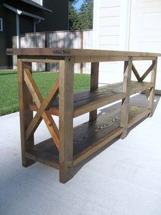 Southern Belle Soul, Mountain Bride Heart: A little farm in my home (DIY Rustic X Console Table)