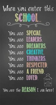Character Education Banner - When you enter this school ...Decorate your classroom with this bright, colorful CHALK banner. This purchase includes one JPEG image which you can upload and print on a vinyl banner. Step-by-step instructions for uploading this image to Vistaprint.com are provided; however, it can also be printed at other places like Staples and Office Max.