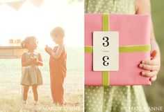 what a cute idea for wrapping a present (card that equals up to their age)