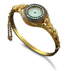 Victorian ladies' wrist watch bangle.
