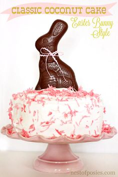 No matter if you buy a store bought cake or are making a homemade - put a Bunny on it!