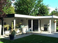 Modernvarioflex Hoek-tuinhuis 2 luifels, Maassluis