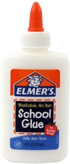 Elmer's Washable No-Run School Glue, 4 oz,  1 Bottle (E304)