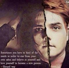 """Gerard ways recovery is unreal , a true inspiration """"just a man , im not a hero"""" mhmm sure..."""