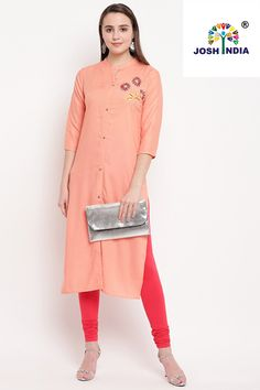 This online shop has a great selection of kurti. Grab this rayon peach designer kurti for casual and party. Anarkali Kurti, Lehenga, Celebrity Gowns, Latest Sarees, Western Dresses, Saree Styles, Fabric Shop, Party Wear, Peach