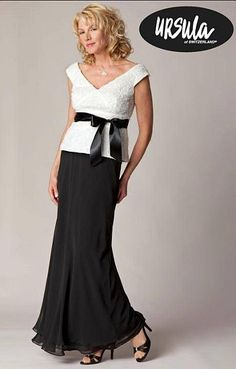 Size 18 Off White and Black Ursula Mother of the Bride Dress 31224