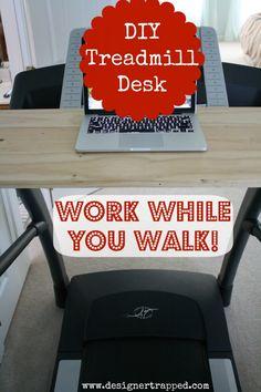 DIY Treadmill Desk Tutorial by Designer Trapped in a Lawyer's Body {www.designertrapped.com}