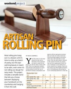 #1882 Woodturning Rolling Pin - Woodturning Projects and Techniques