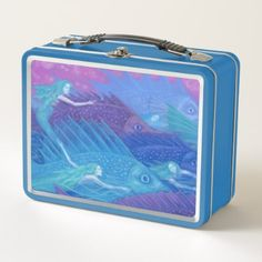 Ocean Nomads Nautical Fantasy Art Mermaids & Fish Metal Lunch Box - kitchen gifts diy ideas decor special unique individual customized