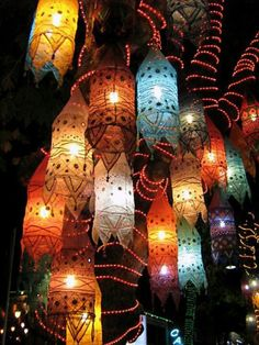 Fabric Lanterns in Portugal.