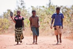 On the way to school. #Malawi