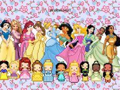 pixel art: Princesses by 1pohdetg | PIXEL'D | Disney