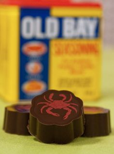 16 Pcs Caramels W Old Bay - 72% Dark Chocolate - (Box of 16) by Chouquette on Gourmly