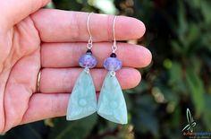 Grace Romantic handmade dangle earrings in soft by esferajewelry