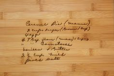 Custom gifts for mom: Custom engraved cutting boards with handwritten recipes at 3D carving