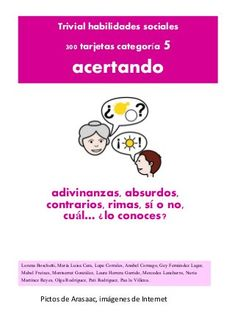 Trivial: tarjetas Acertando by Anabel Cornago via slideshare Aspergers, Educational Games, Emotional Intelligence, Speech And Language, Social Skills, Speech Therapy, Lesson Plans, Psychology, Student