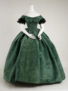 American Silk Ensemble, 1858, Evening Bodice