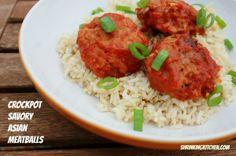 Crock Pot Savory Aisian Meatballs - 6 Servings
