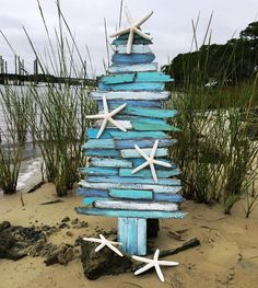 "Handcrafted ""Coastal Tide"" Holiday Tree by Jimmy & Jaime McPhillips (from Outer Banks Trading Group)"
