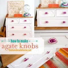 how to make agate knobs | the handmade home