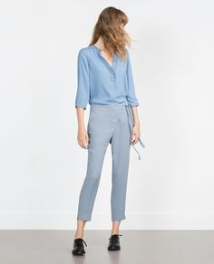 Image 1 of LOOSE FIT TROUSERS from Zara