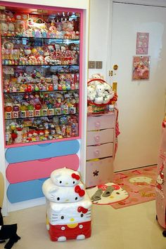 Yup our house will be like this but not only hello kitty, it will be like rilakkuma, twin stars, zombit, rements, squishies, and so much more! But yeah pretty much it will look like a little kids room.