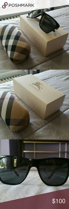 BURBERRY SUNGLASSES Men's - Mint Condition - Includes Box & Case.  (Box has marks on it) Burberry Accessories Sunglasses