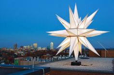 Amazing 31-foot Moravian Star on top of WF Baptist Medical Center - Winston-Salem, NC