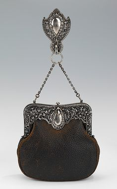 Bag (Chatelaine)  Gorham Manufacturing Company  Date: ca. 1895 Culture: American  Costume Collection at The Metropolitan Museum of Art  Accession Number: 2009.300.2174a, b