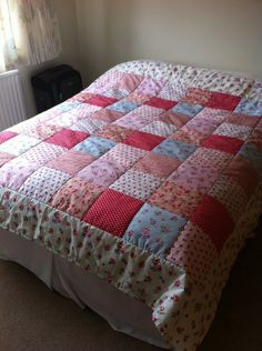 Double Patchwork Quilt - The Supermums Craft Fair