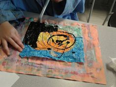 I love wax crayon style batik projects- they usually have a really high success rate with all students. I found THIS project via Pin...