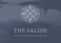 The Salish: Seaside Escapes Self Branding, Corporate Branding, Logo Branding, Compass Logo, Compass Design, Brand Identity Design, Branding Design, Branding Ideas, Logo Ideas