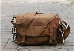 Retro Camera Bag Canvas Camera Bags Camera by cameraleatherbelt, $50.00